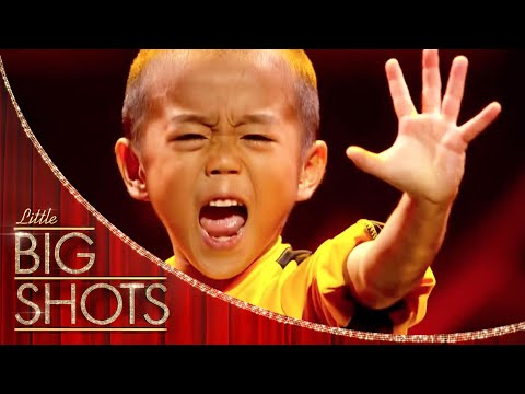 Mini Bruce Lee Recreates Game Of Death | Little Big Shots