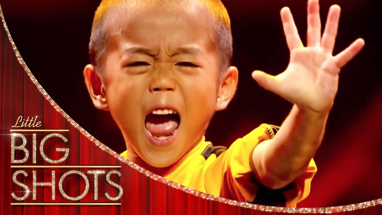 Download Mini Bruce Lee Recreates Game of Death | Little Big Shots
