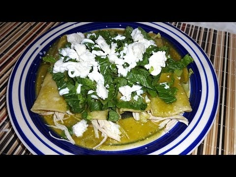 Enchiladas Verdes With Poblano Chili Recipe