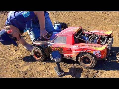 Project Large 2.0 CARNAGE on my Backyard Race Track! 1/5th scale LOSi 5T GAS POWER! | RC ADVENTURES