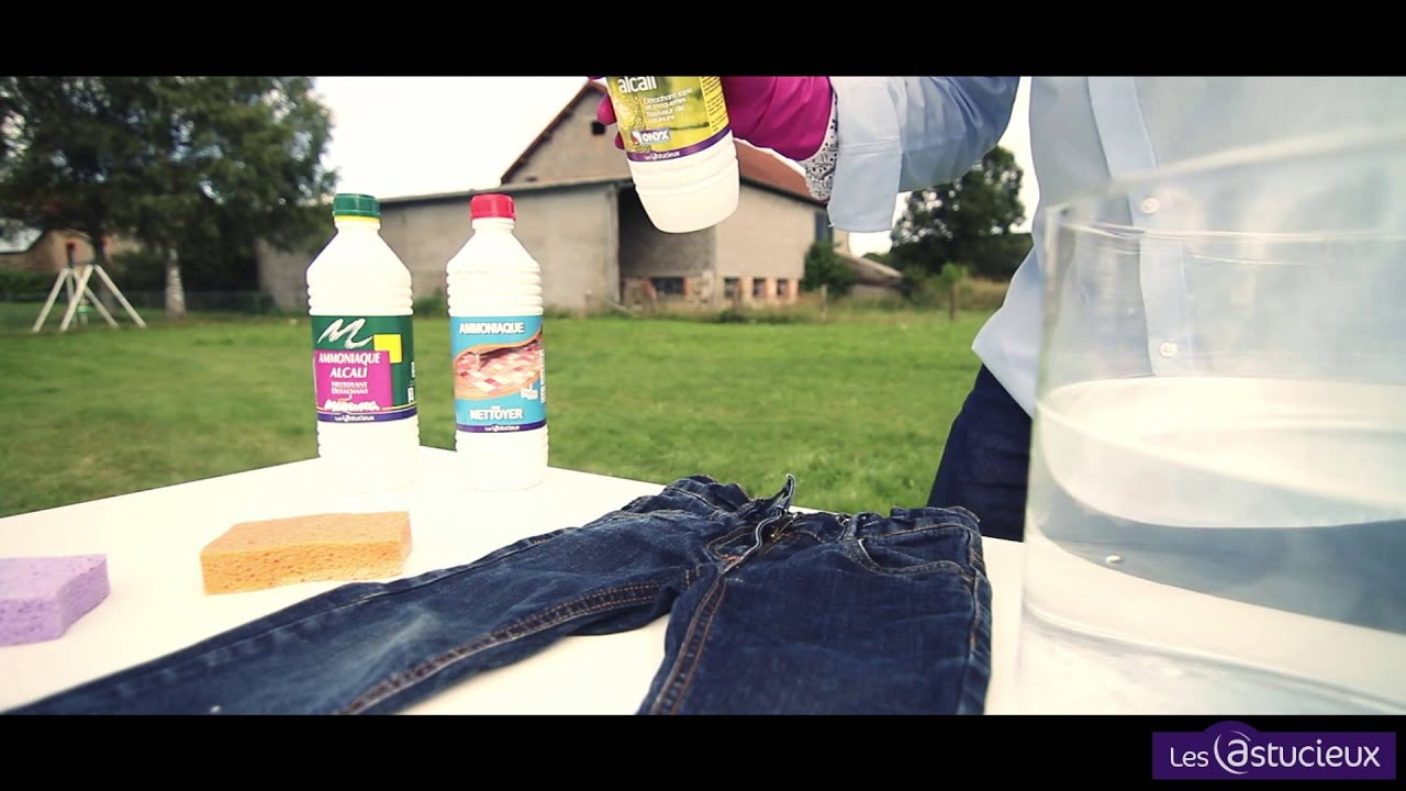 Enlever tache herbe jean