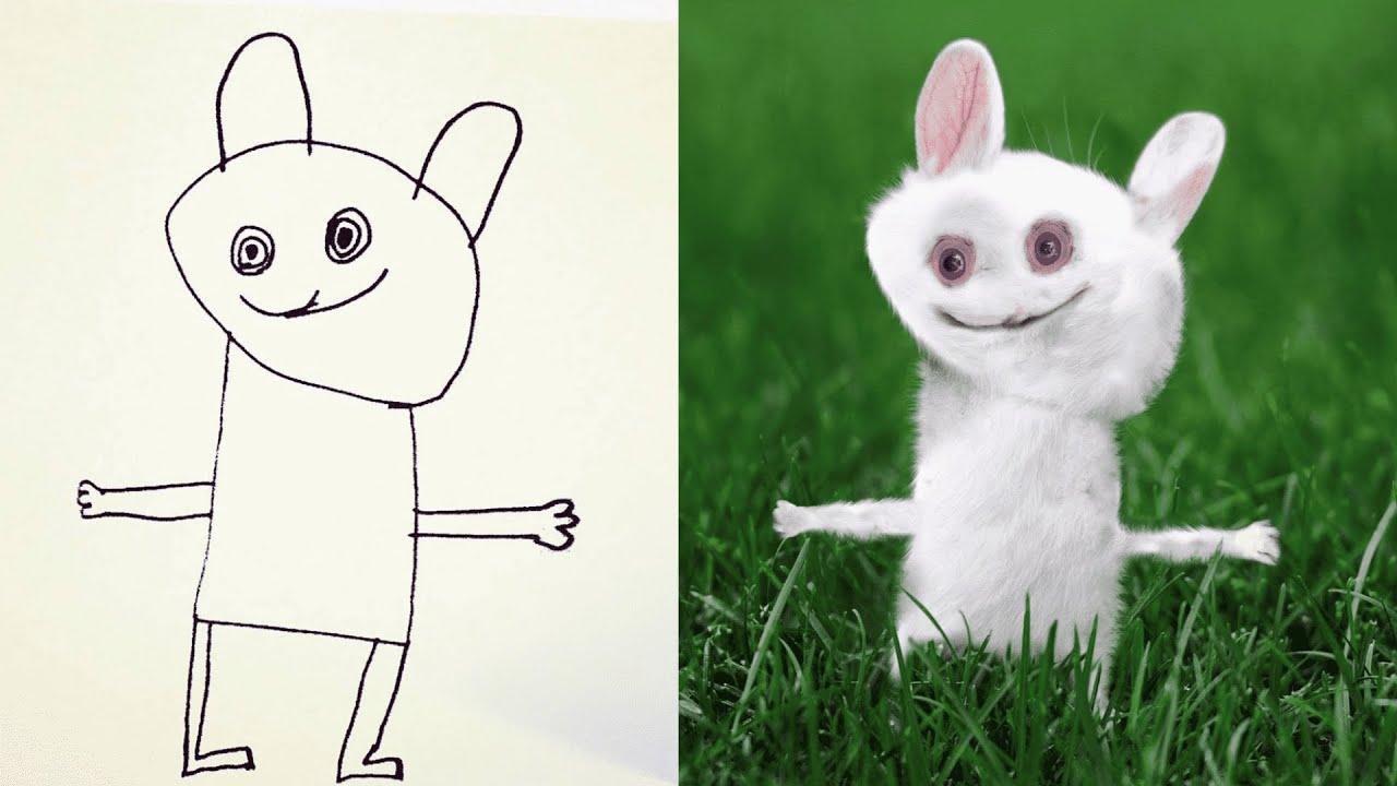 【衝撃】子供が描いた絵をリアルに再現した画像がヤバすぎたwwwwww