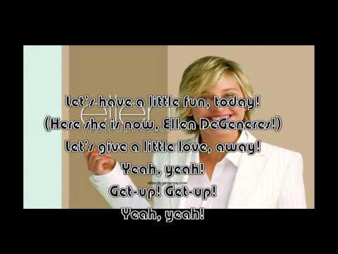The Ellen DeGeneres Show: Theme song (w/ Lyrics. No audience!)