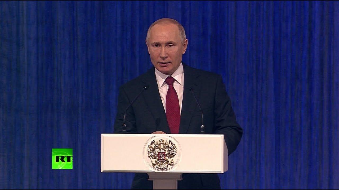 Владимир Путин поздравил военных с Днём защитника Отечества