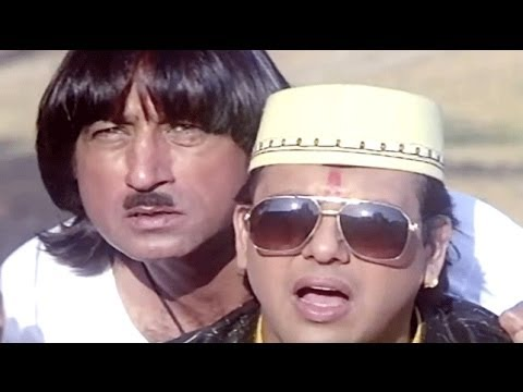 Raja Babu Comedy Scene - Govinda Helps Villagers