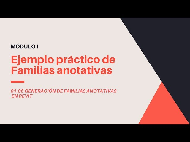 Familias en Revit 2020 | 06 02 Ejemplo práctico de creación de familia Anotativa en Revit