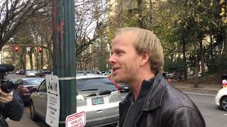 Out with ted wheeler . Portland Oregon. Antifa across the street being fools .