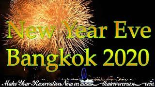 New Years Eve 2020 Bangkok Thailand Countdown Festival Chaophraya River Bangkok Thailand