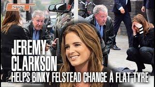 JEREMY CLARKSON was seen helping BINKY FELSTEAD change a flat tyre