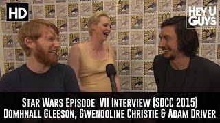 Star Wars Interview - Domhnall Gleeson, Gwendoline Christie & Adam Driver Interview