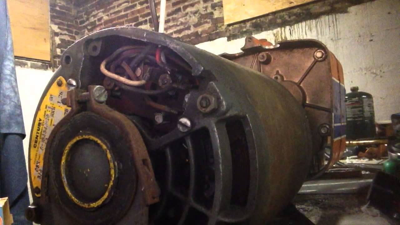 How to switch a century csx motor 120v from 240v - YouTube
