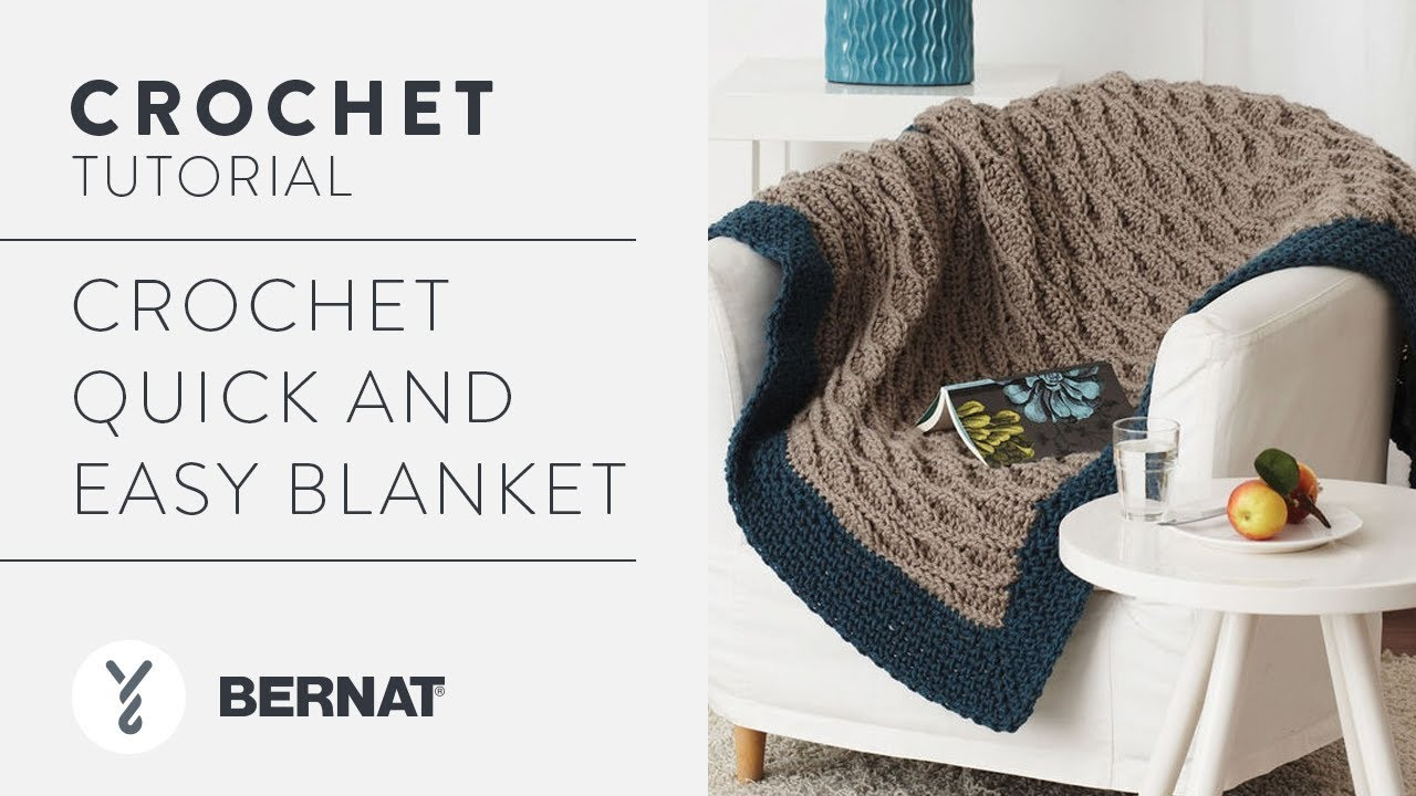 Crochet Quick And Easy Blanket Tutorial Youtube