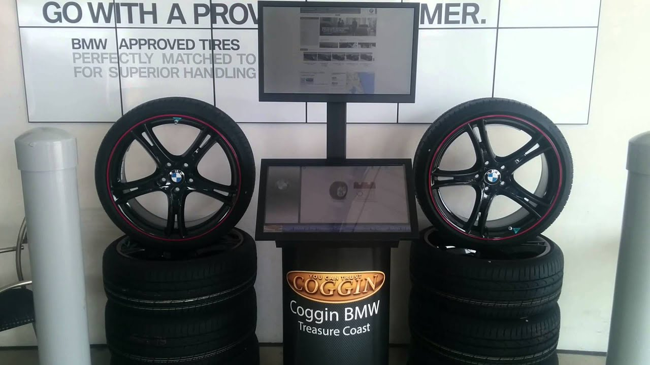 dealership tire kiosk at coggin bmw youtube