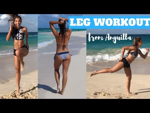 BEACH TONED LEGS WORKOUT From Anguilla   Katie Austin