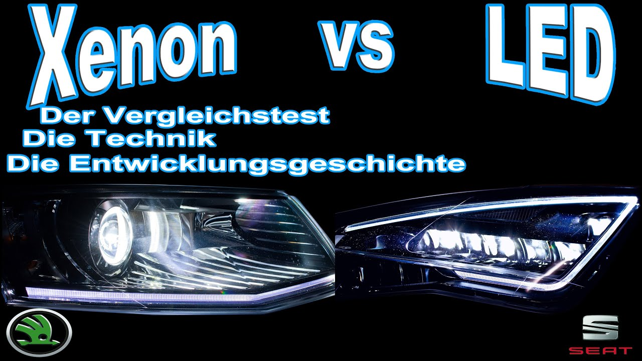 xenon vs led der vergleichstest skoda octavia xenon vs seat leon led youtube. Black Bedroom Furniture Sets. Home Design Ideas