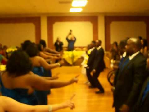 The Best Wedding Dance Entrance (Reggae Style Praise Him) @Dwayne Martinez