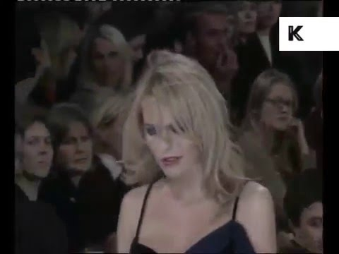 1997 Liam Gallagher Watches Patsy Kensit Model at Fashion Show