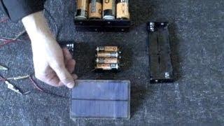 Hausgemachte Akku - Ladegerät- solar powered! - schnell-Ladung (AA,AAA,C,D Größen) - einfache DIY