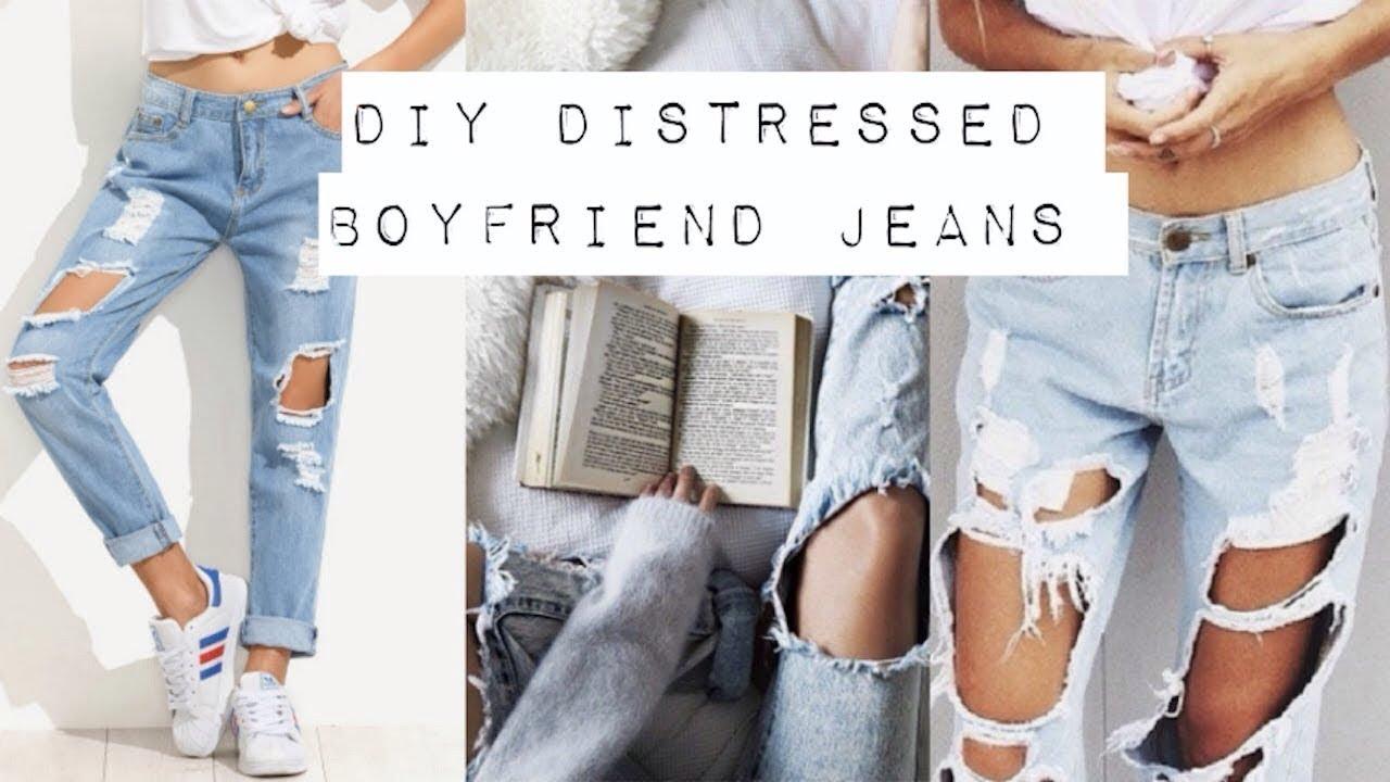 506a5934a9e81 Boyfriends Jeans—طريقة تقطيع البنطلون او عمل بنطلون البوي فريند الشهير 2018
