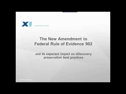 The New Amendment to Federal Rule of Evidence 902 and its Impact on eDiscovery Best Practices