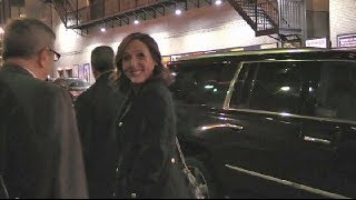 Molly Shannon arriving at Colbert Show