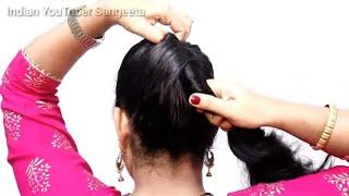 Beautiful Bun Hairstyle For Party || |खुद से बनाये सुंदर जूड़ा शादी पार्टी के लिए| #bun
