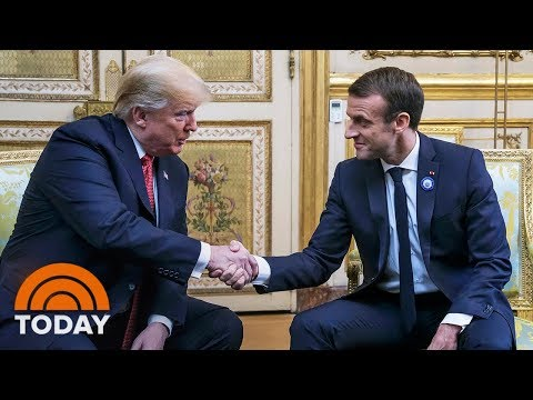 Trump Attacks Macron Upon Landing In France | TODAY