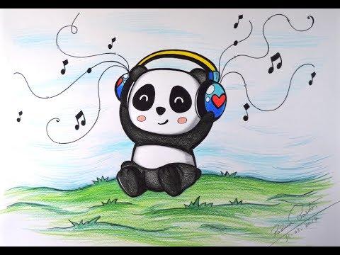 como desenhar panda kawaii tumblr passo a passo youtube