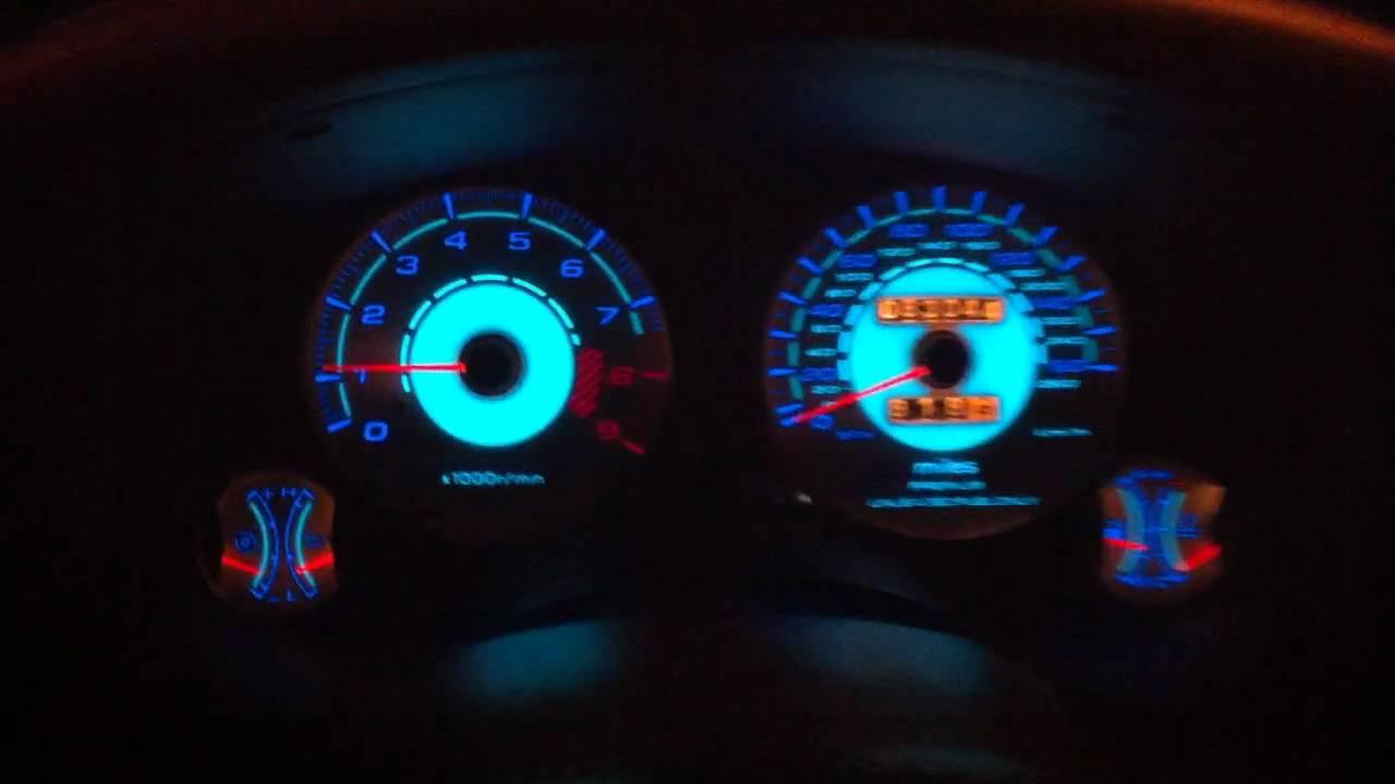 Jeep Cherokee Interior >> *RARE* 1997 Mitsubishi : Eclipse GSX With Alfa Otto : EURO REVERSE GLOW GAUGES - YouTube