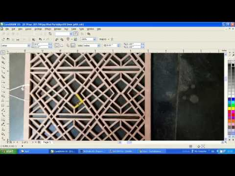 HOW TO MAKE MDF GRILL DESIGN IN COREL DRAWX7