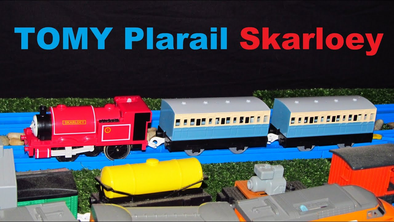 tomy plarail skarloey and blue coaches unboxing review and