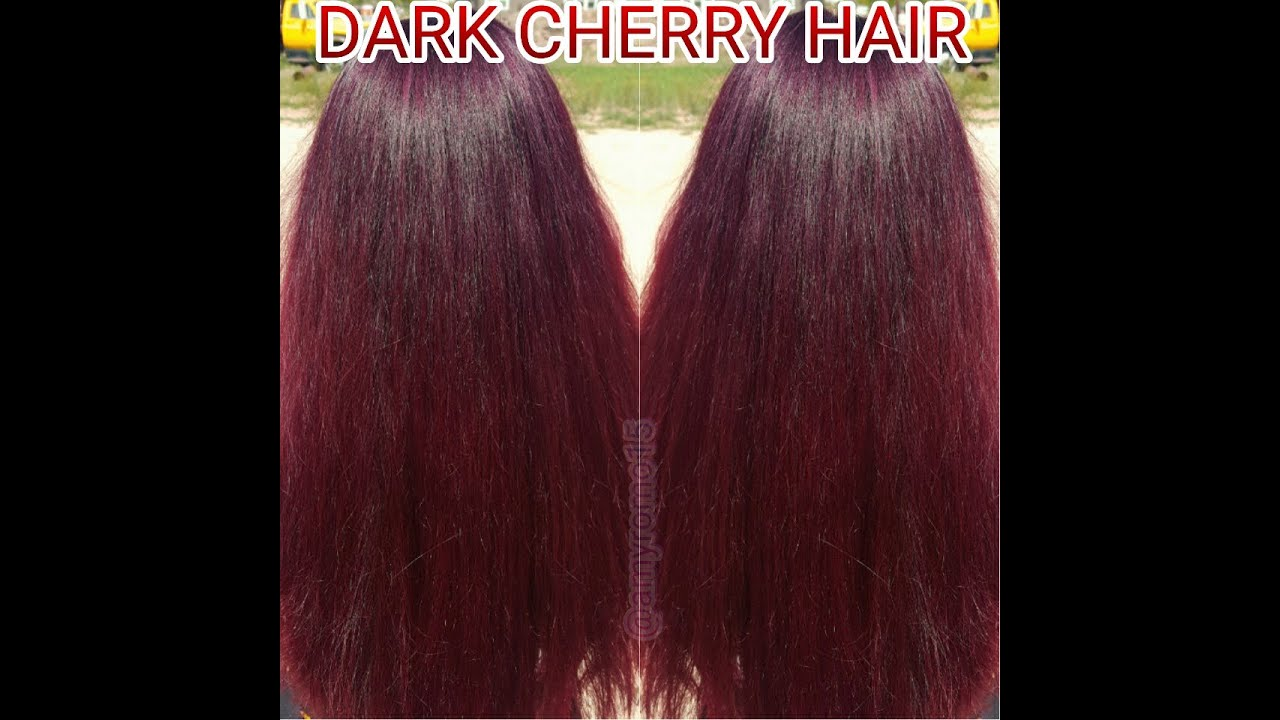 Dark Cherry Hair Color Tutorial Youtube