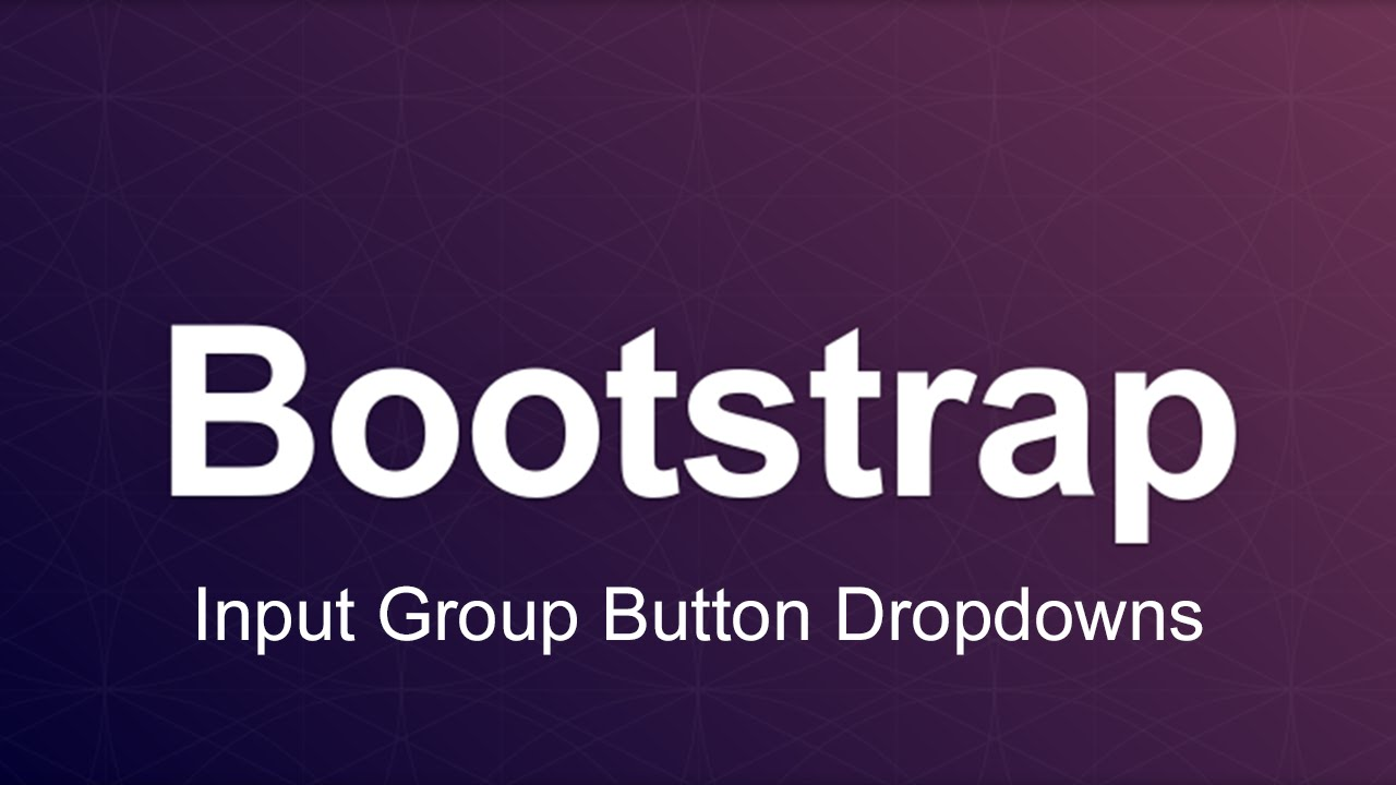 Bootstrap 3 Tutorial 30 - Input Group Button Dropdowns