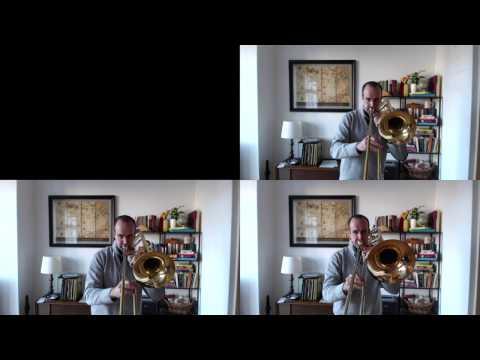 John Legend  All of Me, Arranged for Trombone Quartet: Play Along