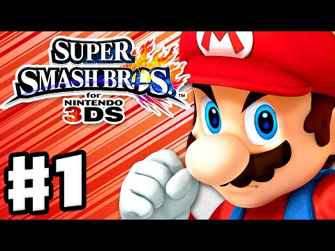 Super Smash Bros. 3DS - Gameplay Walkthrough Part 1 - Mario! (Nintendo 3DS Gameplay)