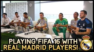 FIFA 16 WITH REAL MADRID PLAYERS & CASTRO!