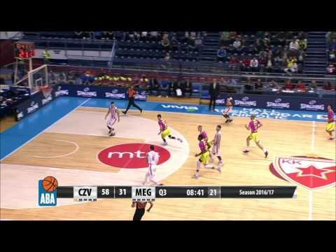 Rade Zagorac elevates to make big block (Crvena zvezda mts - Mega Leks, 9.10.2016)