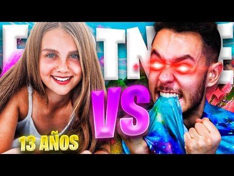 NIÑA DE 13 AÑOS ME RETA 1VS1 EN FORTNITE - TheGrefg