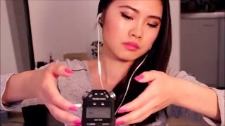 ASMR - Tapping~Scratching~Touching the Microphone + Wood