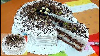 Fırın Kullanmadan İnanılmaz  Kolay Ve Lezzetli Yaş Pasta Yapın👌 /PASTA TARİFLERİ /Hacereli