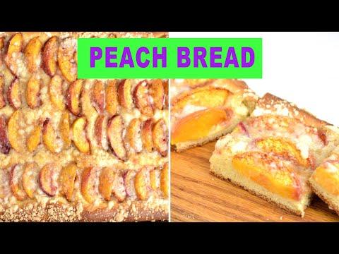 PEACH STREUSEL BREAD |Recipe|