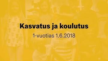 Kasvatuksen ja koulutuksen toimiala täyttää vuoden 1.6.2018