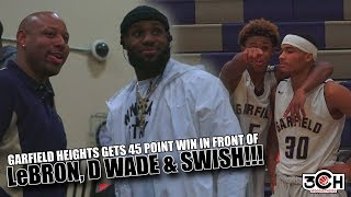 Garfield Heights Gets 45 Point Win With LeBron James, Dwayne Wade & JR Smith In Attendance!!!