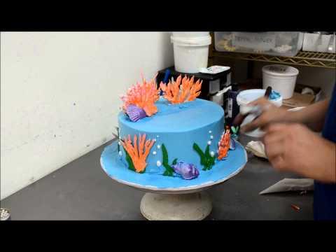 How To Make A Little Ariel Ocean Theme Mermaid Cake YouTube