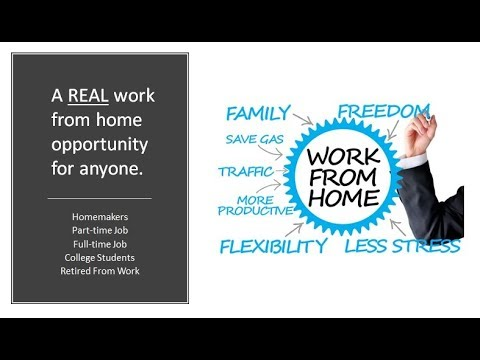 Amazing Work From Home Opportunity - It's worth your time