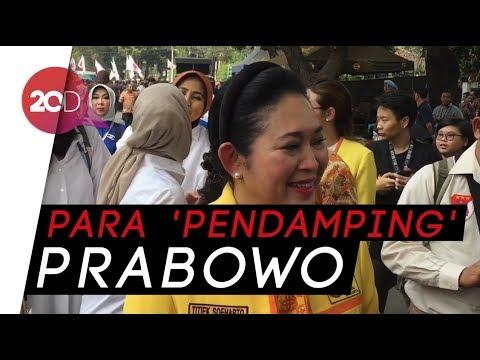 Titiek Soeharto dan AHY Dampingi Prabowo ke KPU