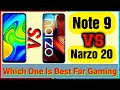 - Narzo 20 vs Redmi Note 9 FULL Comparison | Speed Test | Camera Test | Gaming Test | Battery Test