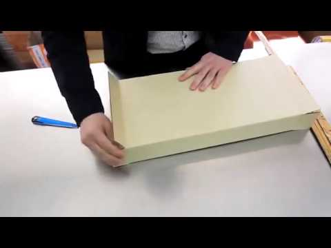 Making a custom sized box at the Korean post office VIDEO