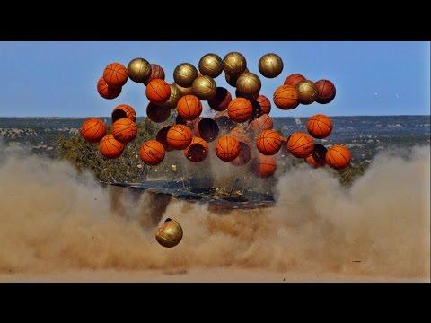 Exploding Basketball Pyramid | Dude Perfect