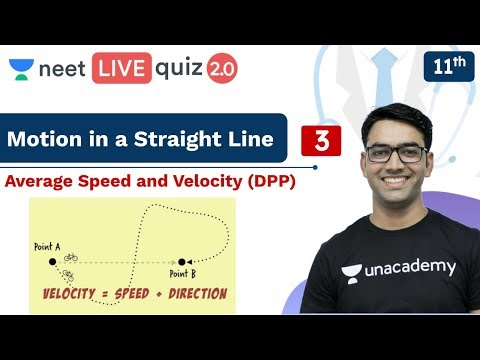 NEET: Motion in a Straight Line - Quiz 3 | DPP | Live Quiz 2.0 | Unacademy NEET | Mahendra Sir